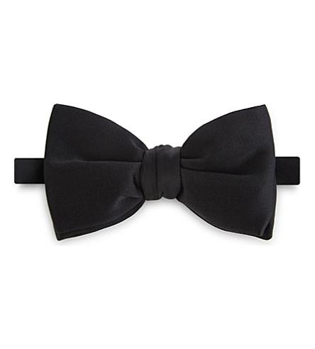 BRIONI Silk bow tie (Black