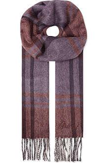 BRIONI Stripe cashmere scarf