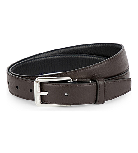 BRIONI Reversible leather belt (Midnight+blue/dark+b