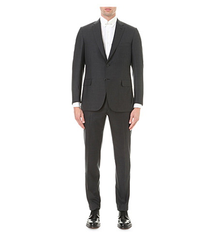 BRIONI Super 160s wool suit (Charcoal