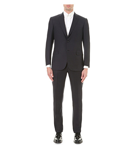 BRIONI Super 160s wool suit (Navy