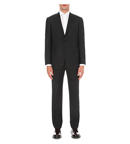 BRIONI Slim-fit wool suit (Black