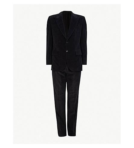 BRIONI Corduroy cotton and cashmere-blend suit (Grey