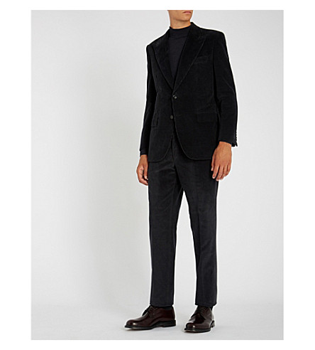 BRIONI Corduroy cotton and cashmere-blend suit (Grey