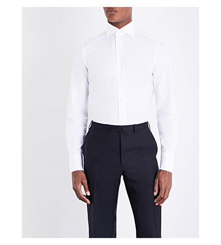 BRIONI Dino cotton shirt (White
