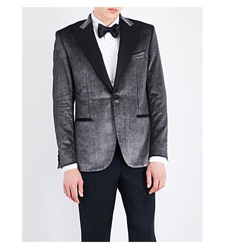 BRIONI Regular-fit velvet jacket (Silver