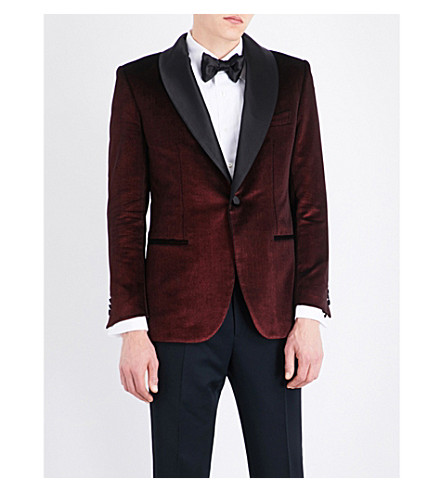 BRIONI Regular-fit velvet jacket (Red