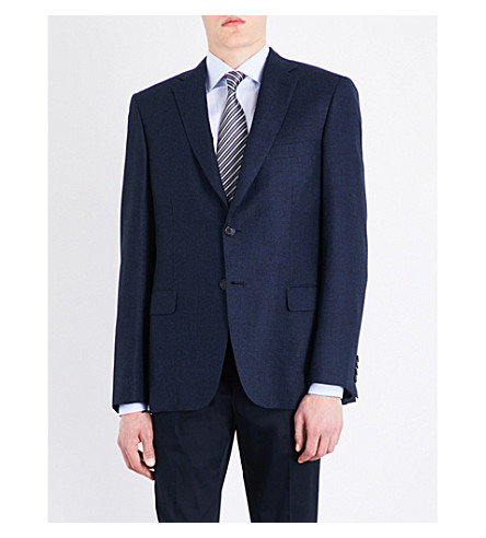 BRIONI Brunico slim-fit wool jacket (Navy