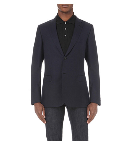 BRIONI Ravello twill-weave wool jacket (Navy