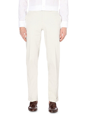 BRIONI Regular mid-rise cotton trousers