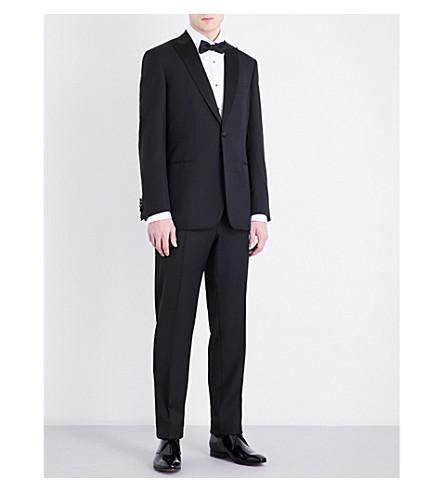 BRIONI Slim-fit wool blazer (Black
