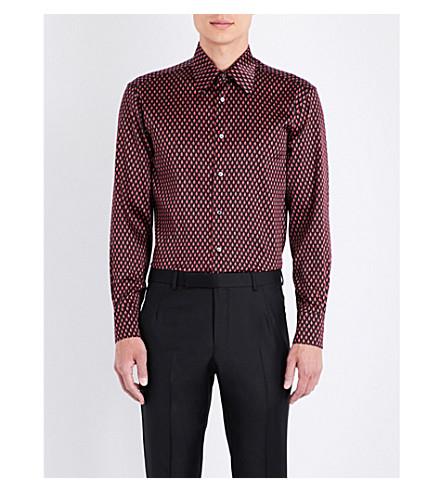 BRIONI Teardrop silk shirt (Black