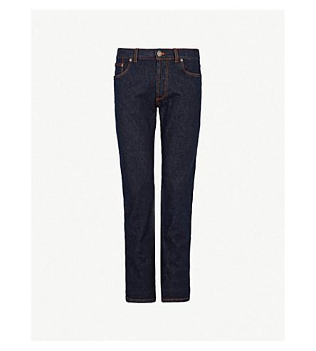 BRIONI Slim-fit straight stretch-denim jeans (Rinse
