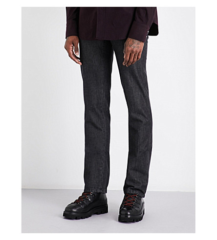 BRIONI Chamonix regular-fit straight cotton and cashmere-blend jeans (Black