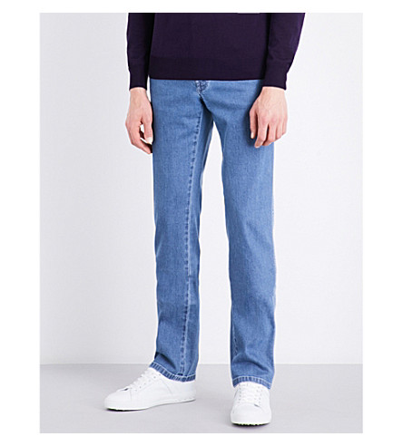 BRIONI Chamonix regular-fit straight jeans (Blue