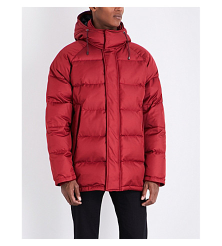 BRIONI Puffer quilted silk-blend jacket (Red