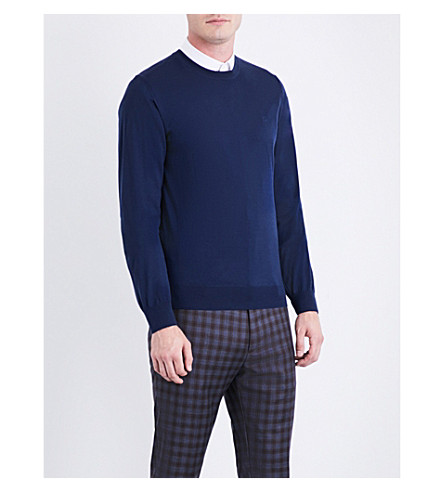 BRIONI Crewneck wool jumper (Navy
