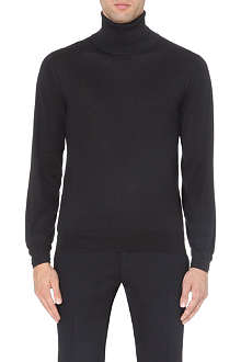 BRIONI Cashmere and silk roll-neck jumper