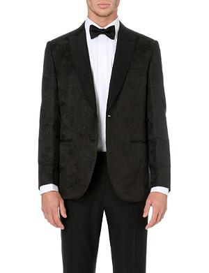 BRIONI Exclusive velvet swan jacket