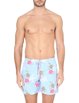 VILEBREQUIN Moorea Hibiscus and turtle-print swim shorts