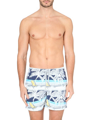 VILEBREQUIN Moorea deck chair palm-print swim shorts