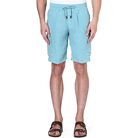 VILEBREQUIN Linen bermuda shorts (Blue