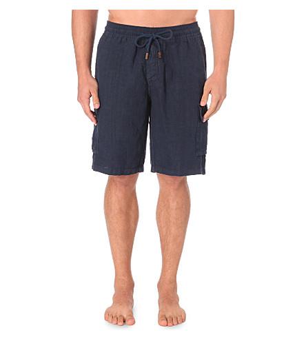 VILEBREQUIN Linen bermuda shorts (Navy