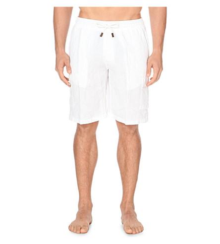 VILEBREQUIN Linen bermuda shorts (White