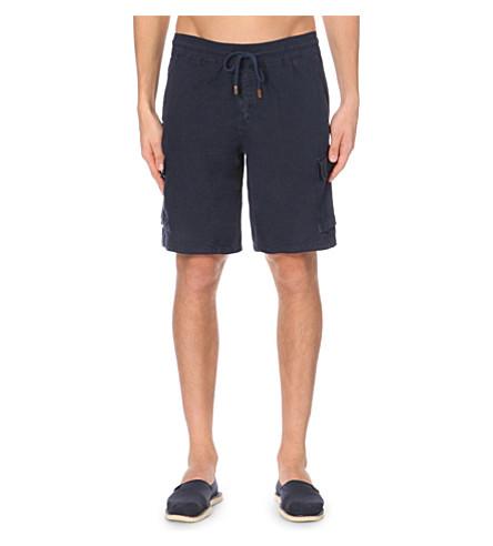 VILEBREQUIN Baie linen cargo shorts (Navy+blue