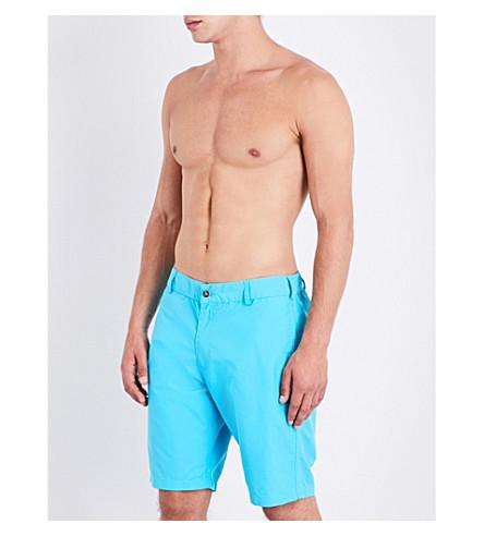 VILEBREQUIN Bermuda mid-rise swim shorts (Navy