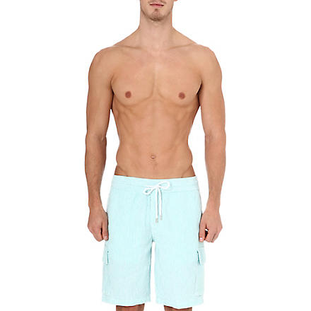 VILEBREQUIN Berrix striped linen swim shorts (Sarcelle