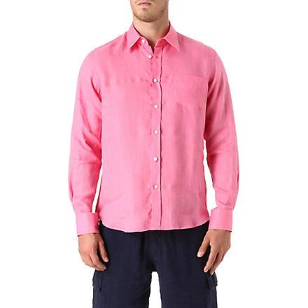 VILEBREQUIN Caroubier linen shirt (Lotus