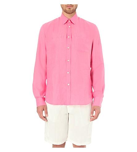 VILEBREQUIN Caroubier linen shirt (Pink