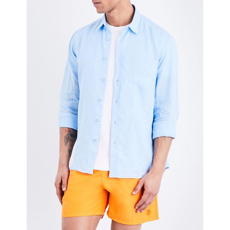 Caroubis regular-fit linen shirt