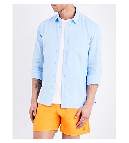 VILEBREQUIN Caroubis regular-fit linen shirt (Sky blue