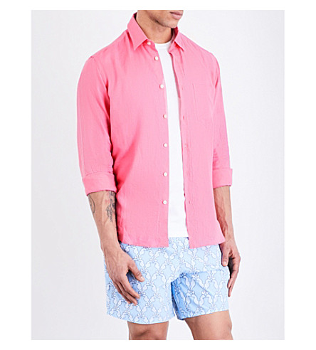VILEBREQUIN Caroubis regular-fit linen shirt (Pink