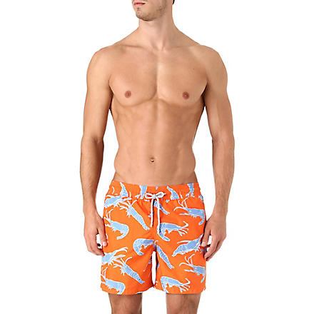 VILEBREQUIN Shrimp Sushi Mahina swim shorts (Orange