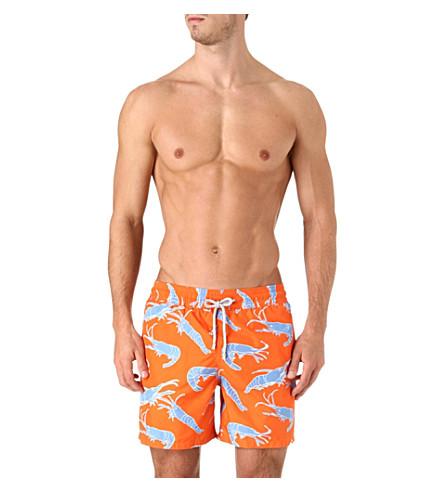 VILEBREQUIN Shrimp Sushi Mahina swim shorts (Orange