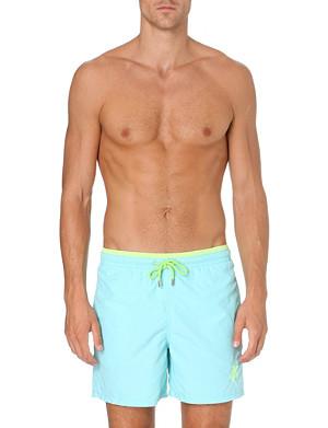 VILEBREQUIN Moorea uni bicolour brode swim shorts