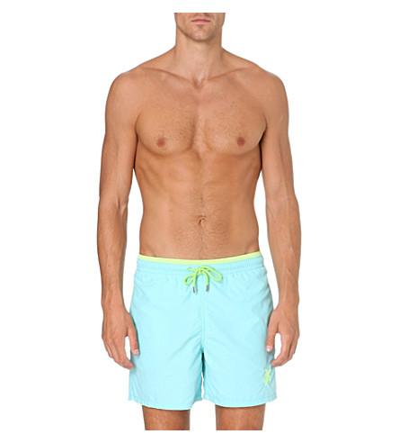 VILEBREQUIN Moorea uni bicolour brode swim shorts (Sky