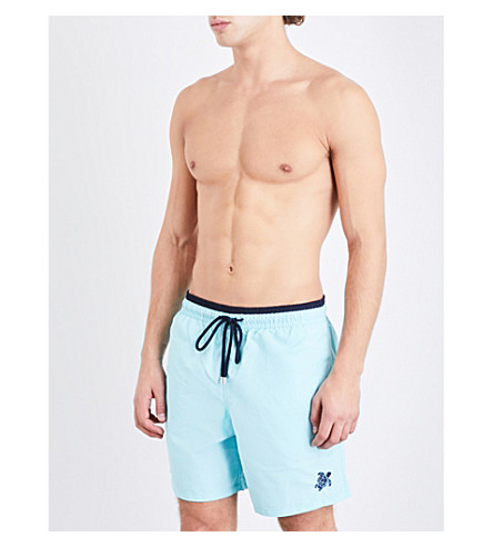 VILEBREQUIN Moka two-tone swim shorts (Sky+navy