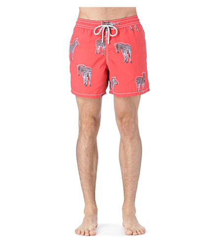 VILEBREQUIN Zebra moorea swim shorts (Red