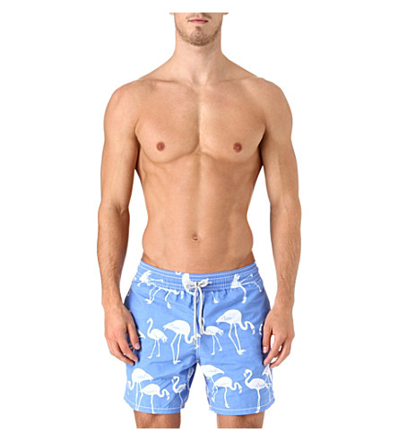 VILEBREQUIN Moorea flamingo swim shorts (Blue