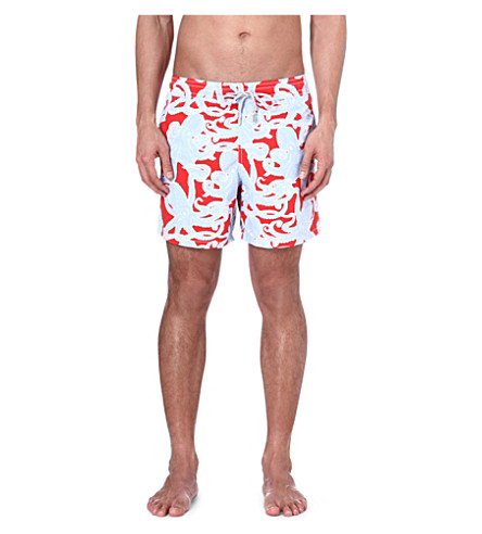 VILEBREQUIN Moorea octopus swim shorts (Red