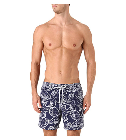 VILEBREQUIN Moorea octopus swim shorts (Navy