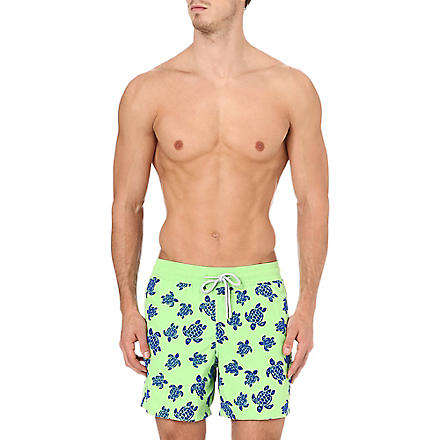 VILEBREQUIN Moorea turtle swim shorts (Green
