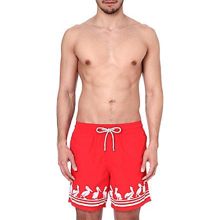 VILEBREQUIN Pelican print swim shorts (Red