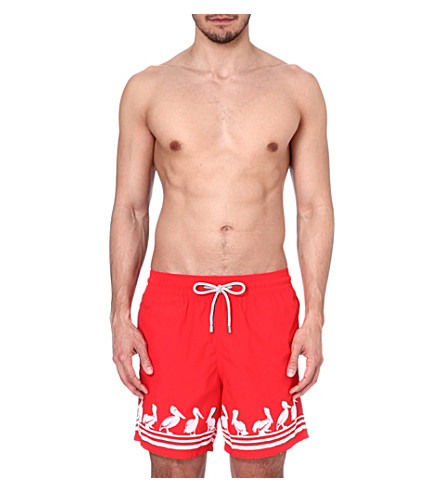 VILEBREQUIN Pelican print swim shorts (Red