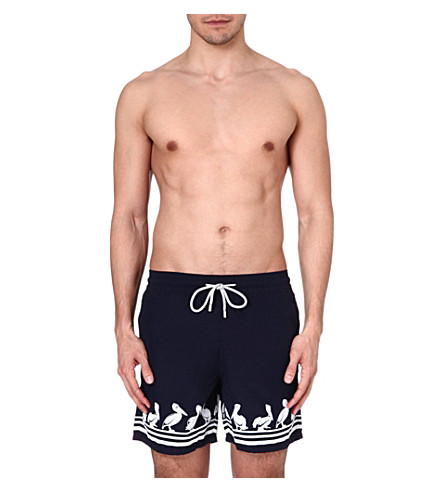 VILEBREQUIN Moorea Pelican swim shorts (Navy