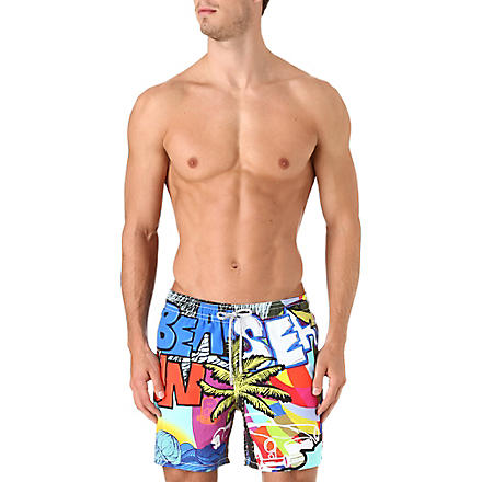 VILEBREQUIN Graffiti-print swim shorts (Multi